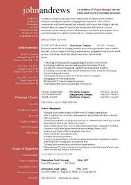 Project Manager Resume Template Word Best of Project Manager Resume Template By John Andrews Project Manager