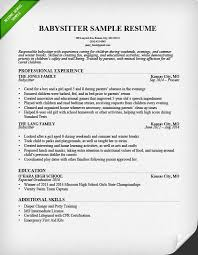 Babysitting Resume Template New Babysitter Resume Example Writing Guide Resume Genius