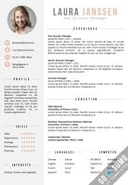 Cv Template Vienna Cv Template Resume Design Modern Cv