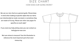 Human Made Size Chart Size Guide James Mae