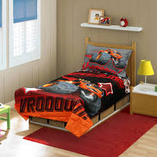 blaze and the monster machines vroooom 4 piece toddler bedding set com