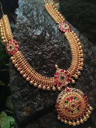 Broad Chain Designs Broad Antique Long Haram From Queens Jewellery Jewelry