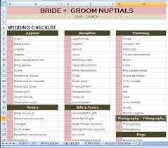 checklist in excel wedding checklist excel
