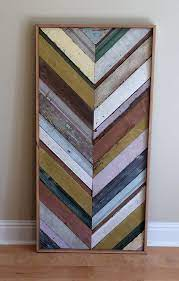reclaimed multicolored wood quilt