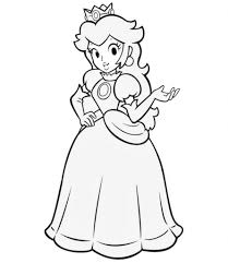 Small Picture Princess Peach Coloring Page for Aspiration Cool Coloring Pages
