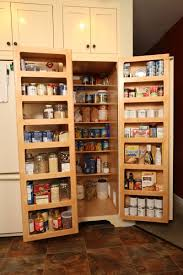 custom made kitchen pantry double fold out doors