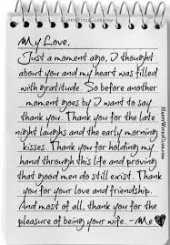 Free Sample Love Letters To Wife Classy Thank You For The Pleasure Of Being Your Wife Love Pinterest