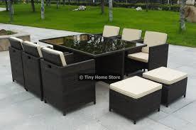 Luxury Cube Rattan Dining Set Garden Furniture Patio Conservatory