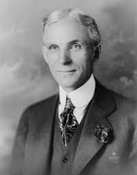 Henry Ford did not invent the concept of the assembly line. He saw it in use in a meat packing factory. He copied the idea and implemented it in his car ... - Henry-Ford