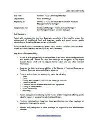 supervisor job resume assistant food and beverage manager food and beverage trainer within 19 interesting food and food and beverage supervisor job description