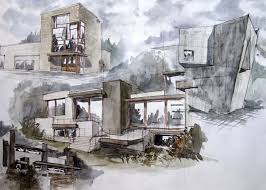 Best Architectural Drawing Images On Pinterest Sketch