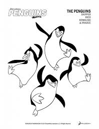 Free Printable Penguins Of Madagascar Activity