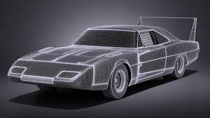 Dodge Charger Daytona 1969 Nascar 3d Model 169 Obj Max