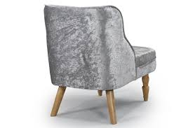 Shenstone Modern Silver Crushed Velvet Fabric Occasional Bedroom - Occasional bedroom chairs