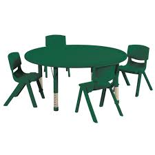 set includes 45 round table and 4 14 chairs