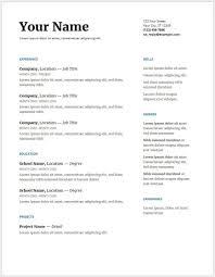 Resume Template Google Docs Template S