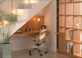 office under stairs. Minimalist Under Stair Home Office Stairs