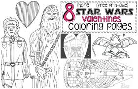 Small Picture 8 More Star Wars Inspired Valentines Coloring Pages Nerdy Mamma