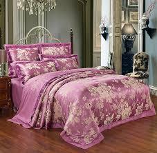 purple flowers luxury silk satin cotton
