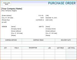 Purchase Order Forms Sample Purchase Order Template Excel Free Purchase Order Template Excel