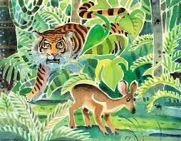 Image result for deer and tiger