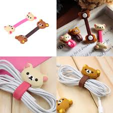Wire Organizer Kawaii Animals Cable Chick Headphone Winder Earbud Silicone  Cord Wrap Earphone Cord Stationery Holder