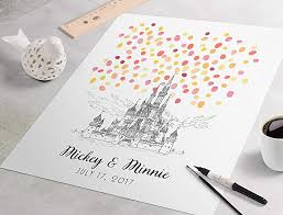 Sign Book For Wedding Black And White Disney Castle Wedding Guest Book Disneyland Wedding Sign In Guest Book Fingerprint Guest Book For Wedding Disney Castle Fingerprint