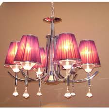 modern fabric shade 6 lights crystal chandelier lamps fixtures