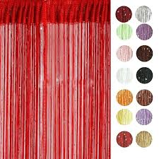 red door beads new chic string curtain with bead sequin spangle fringe panel room door divider