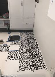 stenciling a concrete basement floor using the augusta tile stencil from cutting edge stencils