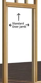 door jamb. Fits 50 In.-60 In. Standard Door Jamb Kit 2x6 Construction - 96