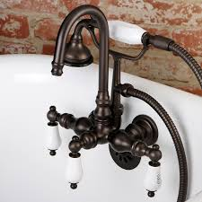 aqua vintage ae9t5 wall mount clawfoot tub faucet oil rubbed bronze