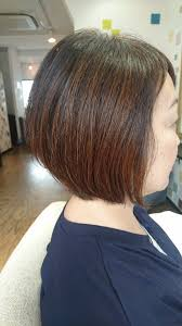 50代に人気の前下がりショートボブ 大人女性の髪型心理サイト Max戸来