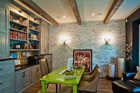 Nice home office Wood Cool Whitewash Brick Wall Ideas For Interior Design Nice Home Office Décor With Whitewash Brick Venidaircom Fireplace Nice Home Office Décor With Whitewash Brick Wall And