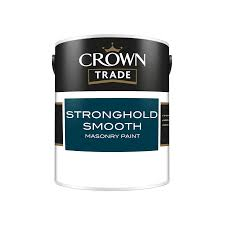 Crown Masonry Paint Colour Chart Crown Trade Stronghold Smooth Masonry Paint Masonry