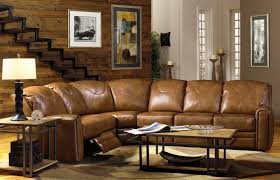 living room furniture l shaped light brown genuine leather recliner from 9 coffee table for sectional