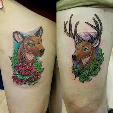 парные татуировки олень и олениха весьма символично татуировки