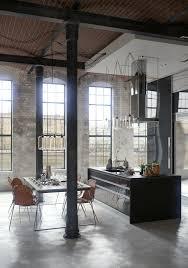 cool bar furniture for lofts. offene küche im umgebauten industrie loft cool bar furniture for lofts