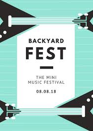 Simple Event Flyers Mint Bass Simple Party Event Flyer Templates By Canva