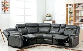 black leather reclining sectional 5 seater recliner sofa seat with chaise