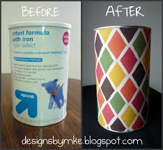 upcycling baby formula cans
