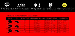 Bell Moto 8 Size Chart