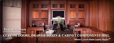 Cherry Raised Panel Cabinet Doors Wainscoting And Wood Molding From WalzCraft In Home Office