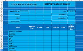 Employee Attendance Tracking Calendar Template 2015 | Exceltemple