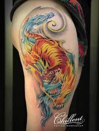 тигр и дракон тату фото