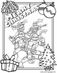 Ninja Turtles Border Christmas Coloring Pages Printable