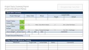 status update template word project status report template summary robert mcquaig blog