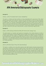 How To Write An Annotated Bibliography Example See Sample Apa Here