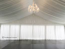 chandelier silk roof lining and wall lining hire