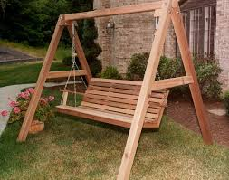 ideas wood porch swing frame sets wood porch swing frame sets patio swing with stand